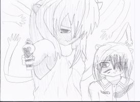 Elfen Lied Younger and Older Lucy Uncolor by MangaDrawer333