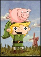 Link Throws Piggy by tafkase7en