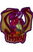 Commish: Thorn Badge by GL1TCH-CR3AT0R