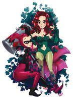Poison Ivy and Harley Quinn by Jumpix