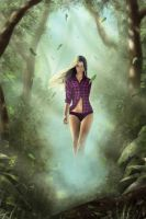 girl in the forest by Vaalera