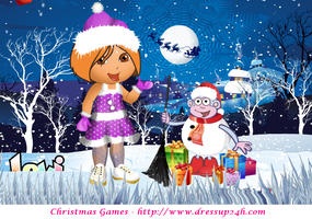 Dora Christmas Dresses Game by willbeyou