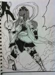 Erza Nakagami armor drawing Fairy tail manga anime by nickperriny7mai