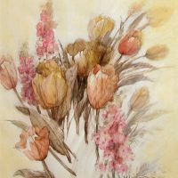 Tulip in watercolor by temma22
