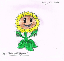 My PvZGW Sunflower RE-Style by PrincessKittyMae