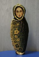 Painted Stone Figurine 2 by stefanpriscu