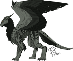 Maned Dragon Adoptable-Closed by 768dragon