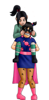 Candygirl meets Vanellope by zzerver