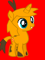 Angry Birds MLP - Orange Bird as a pony by worldofcaitlyn