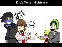 Kira's worst nightmare by Cardboard-Fortress
