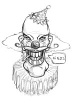Drawing: Scary Clown by jinnybear