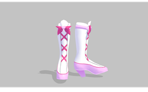 MMD Cute heart boots by amiamy111