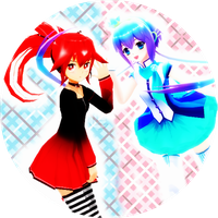 MMD - CUL and Aoki lapis free Icon by Shichi-4134