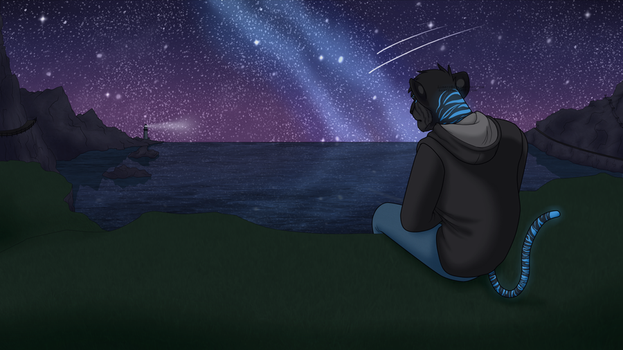 Ooo, I can see the lighthouse from here COMMISSION by Lubbiz