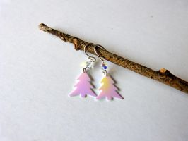 Christmas Tree colorful earrings by Lady-Kiwi