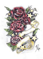 Red Roses by ladygreytattoo