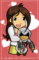Jade Raymond and Altair by desfunk