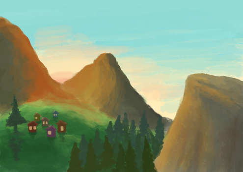 Smol village by Frozen-Ice-Tea