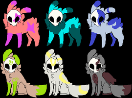 Draw to adopt Skull Fuzzy adopts Batch 2 ON HOLD by LexiDog01