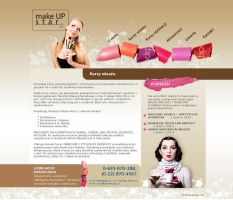 webdesign makeupstar by Magdusia