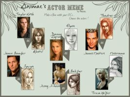Animae's Actors Meme by SerenaVerdeArt