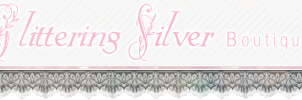 Glittering Silver Etsy Shop Banner by bishiecake