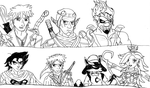 The Crossover Game: Fusion Sketches by LeeHatake93