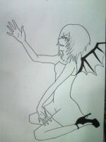 Demon Hipster Chick lol by milovedeathnote