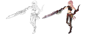 FFXIII LR - Demon veins slayer by NiseSK
