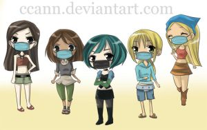 commission total drama island by CCann