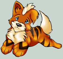 Growlithe by Brittlebear