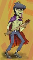close up murdoc by Zink10