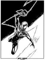 Ultimate spider-man inks by JoeyVazquez
