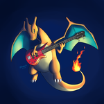 Bassist Charizard by Bluekiss131