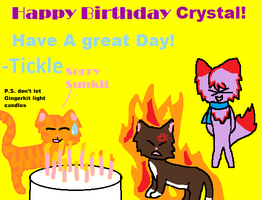 Happy B-day Crystal by DoubleColor