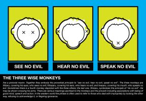 Three Monkeys by graphinate