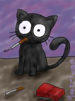 Kitties don't smoke... by chibi-aniram