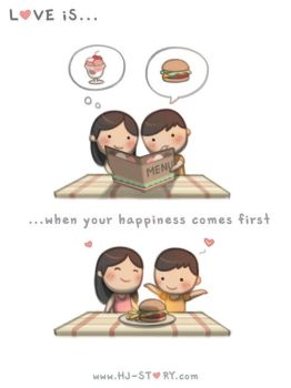 133. Love is... Your Happiness First by hjstory
