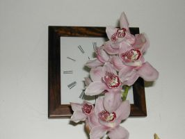 flower and  clock by AxelAgito