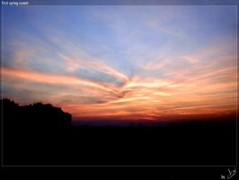 First spring sunset by Smil