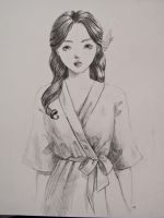 young lady in kimono by Spwrinkle