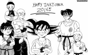 Inktober 2016: The Z-Fighters by YamchaFan91