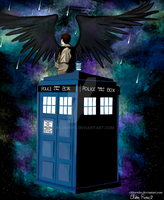The Fallen Angel has the Phone Box by ChloeWho