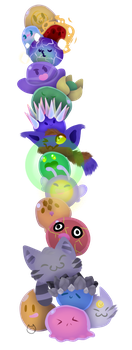 Slime Tower (too many slimes (redraw)) by TheBlackKitty1