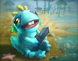 Baby Murloc Wow TCG Card by osobogly