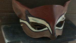 Chipmunk leather mask by faerywhere