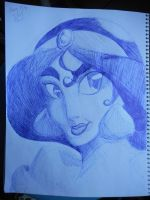 Princess Jasmine by StarfishnStopwatches