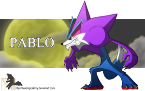 Pablo The Silhouette Werewolf by FreezingIceKirby