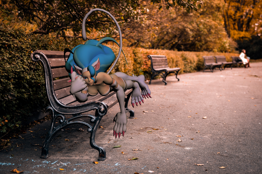 On a street bench by An0th3r0n3