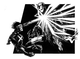 cyclops vs ironman by jay-ecnal
